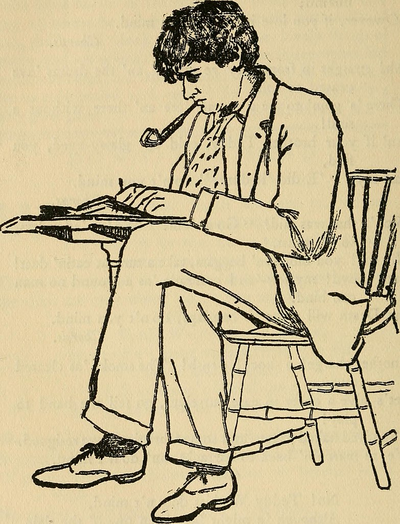 """""""Mr. Bliss Carman."""" Drawn from Life by Dawson Watson. The Chap-Book, vol. 5, no. 8, 1894, p. 352. Digitized by University of Illinois Urbana-Champaign Library. Wikimedia Commons."""