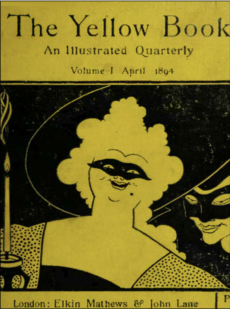 Reproduced cover of The Yellow Book Volume 1.