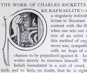 "Figure 6 – from White's essay ""The Work of Charles Ricketts -                        Pre-Raphaelite!"""