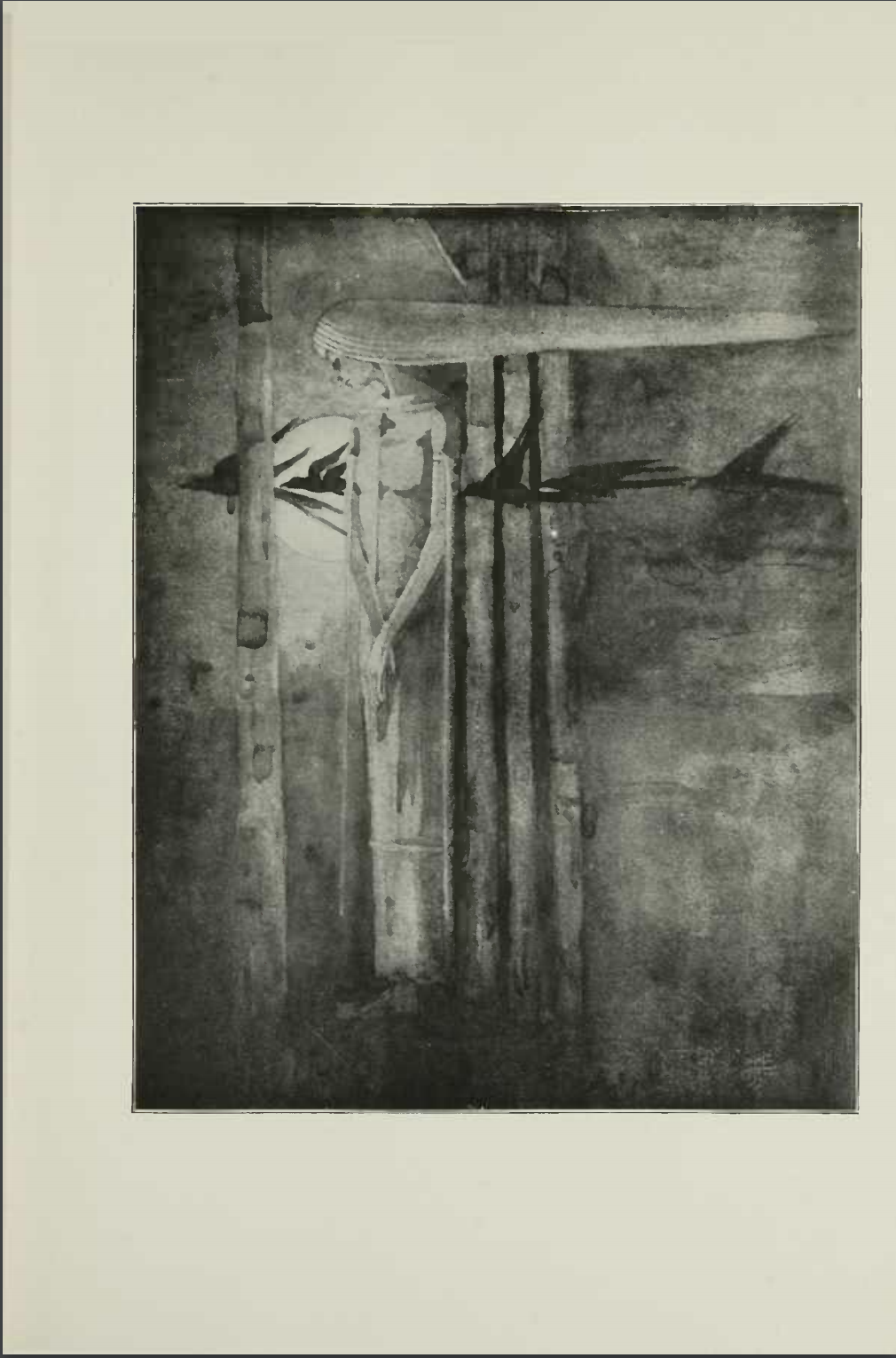 "Black and White Image of Frances Macdonald's ""Ill Omen""."