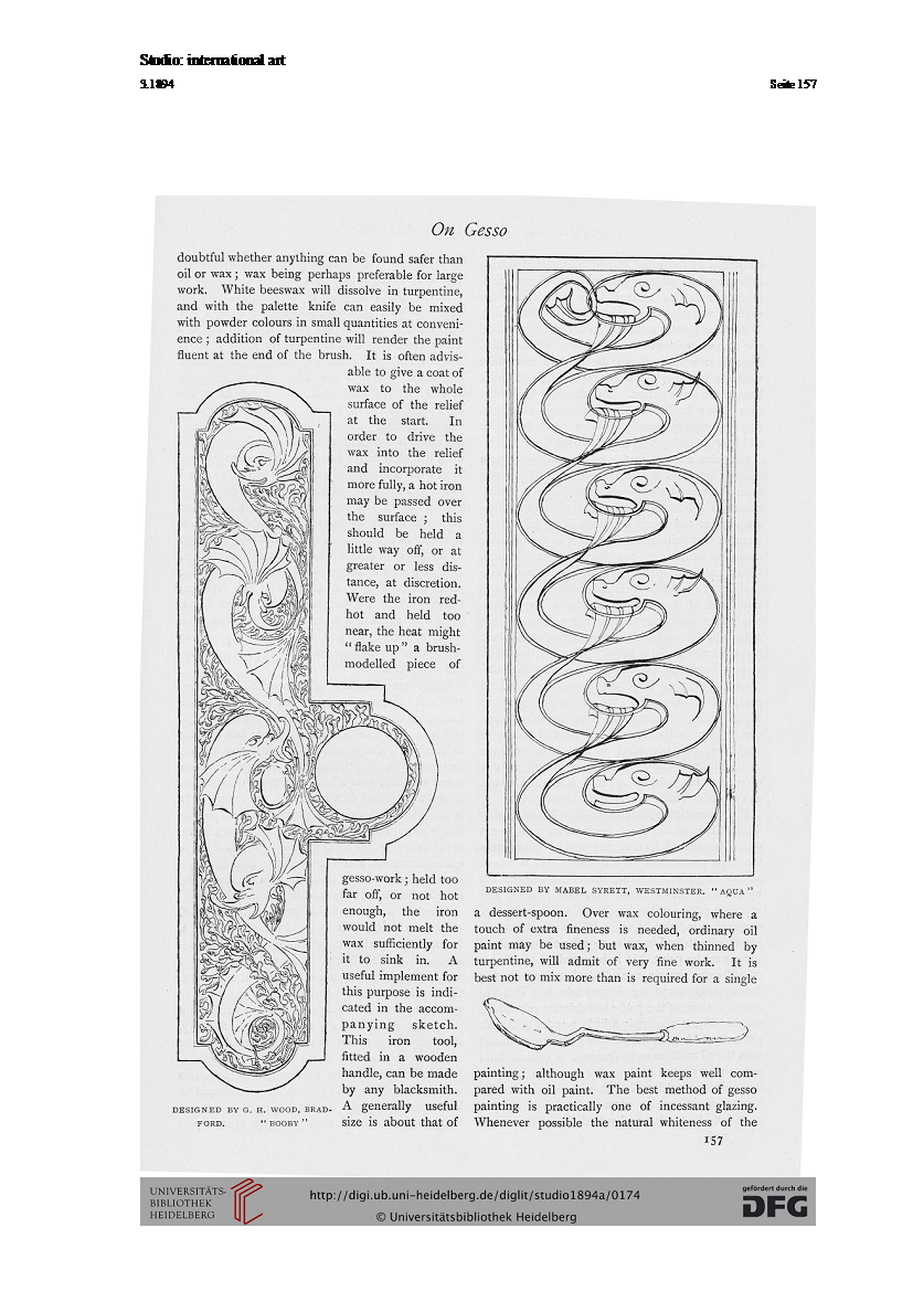 Aqua Design in The Studio magazine, 1894