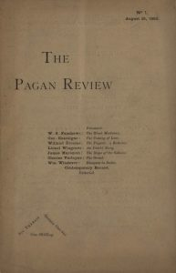 brown paper cover of the pagan review
