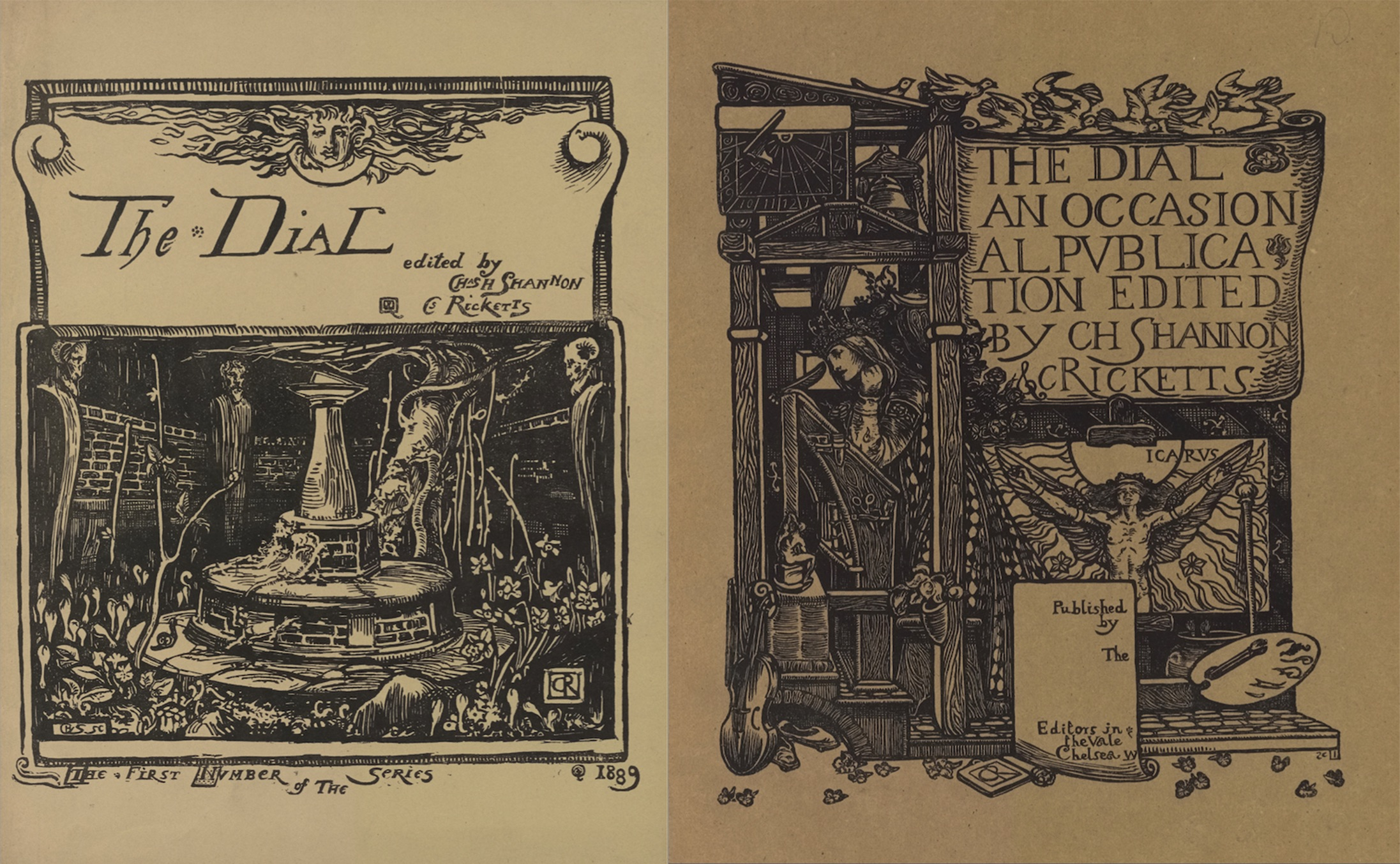 Figure 3. Left: Cover, Dial vol. 1; Right:                        Cover, Dial vol. 2