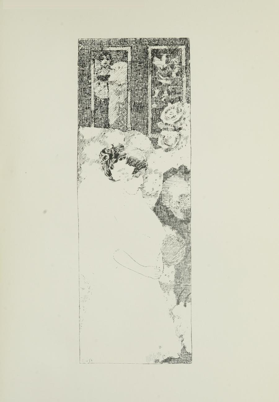 Image is of a wedding scene A dark haired woman in light coloured clothing is walking down the aisle She is shown in profile looking downward Her hair is done up and secured with a flower She is holding a bouquet of flowers in her left hand There are two rectangular windows in the background There are flowers behind her in the right middle ground The image is vertically displayed