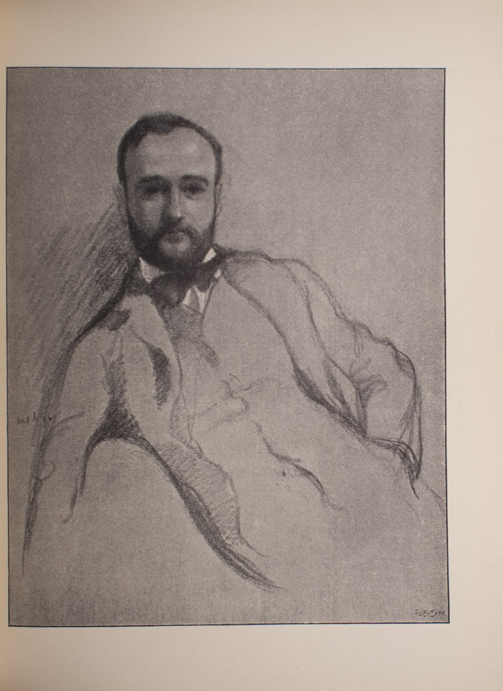 The image is of a half portrait of a man facing front The man has a beard and moustache and is wearing a coat waitcoat dark coloured bowtie and a white collared shirt His left hand appears to be in his pocket The image is vertically displayed