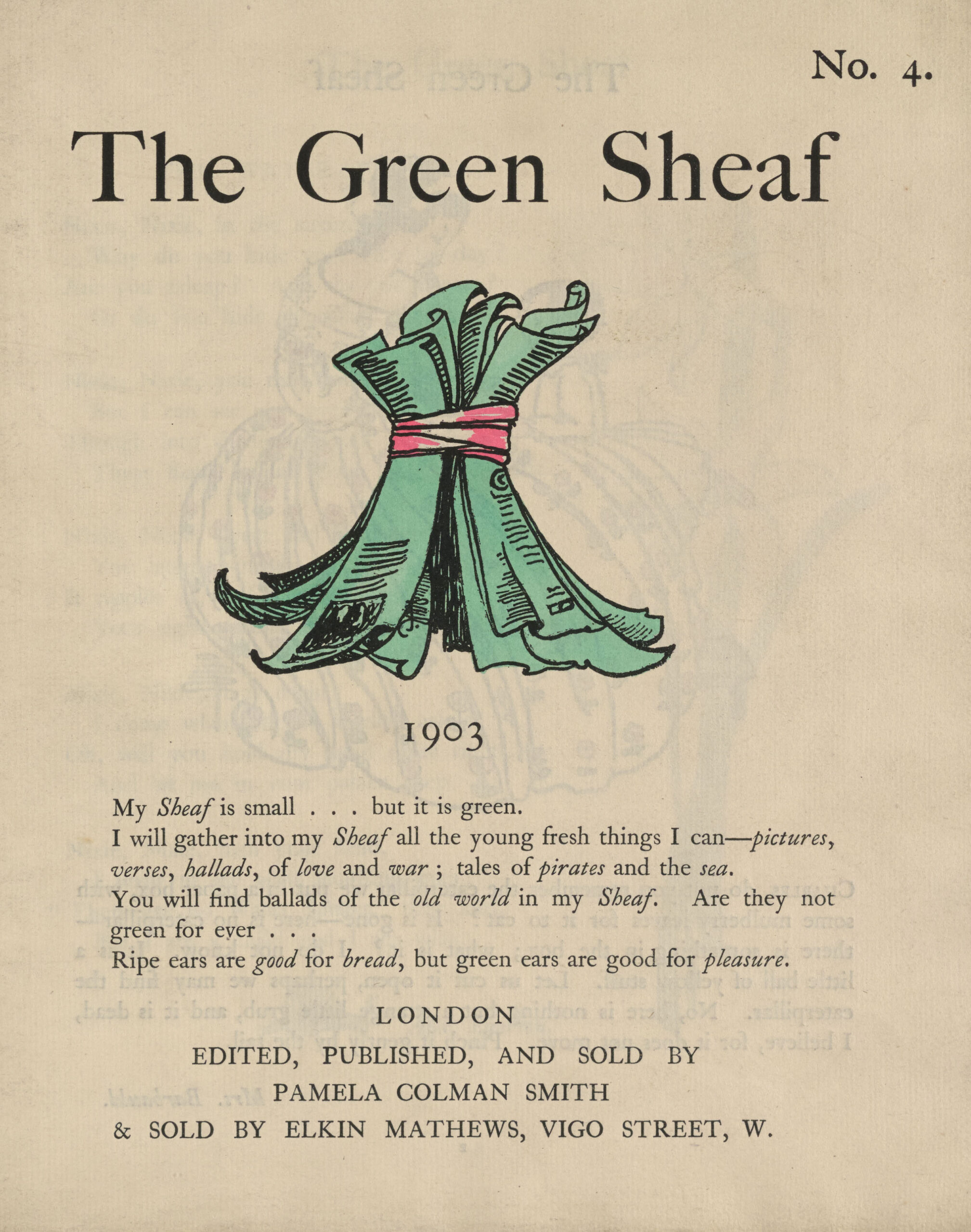Title Page for The Green Sheaf, vol. 4 (1903)