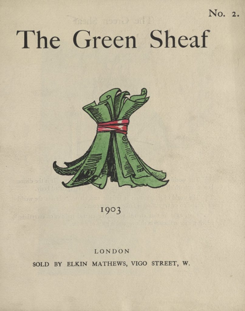 Cover of The Green Sheaf Volume 2