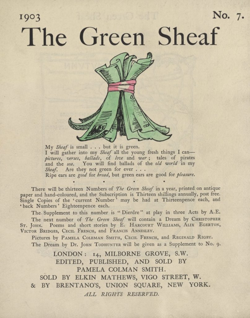 Cover of The Green Sheaf Volume 7
