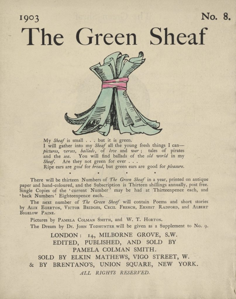 Cover of The Green Sheaf Volume 8