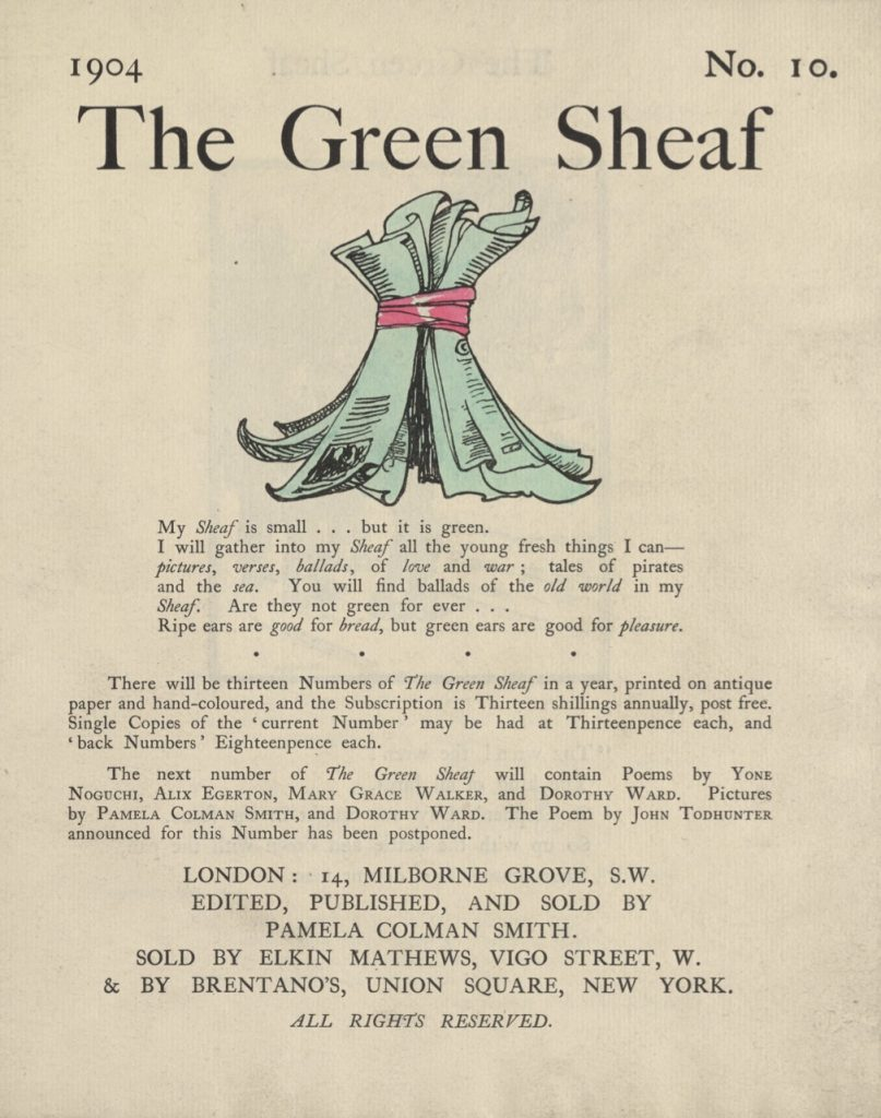 Cover of The Green Sheaf Volume 10