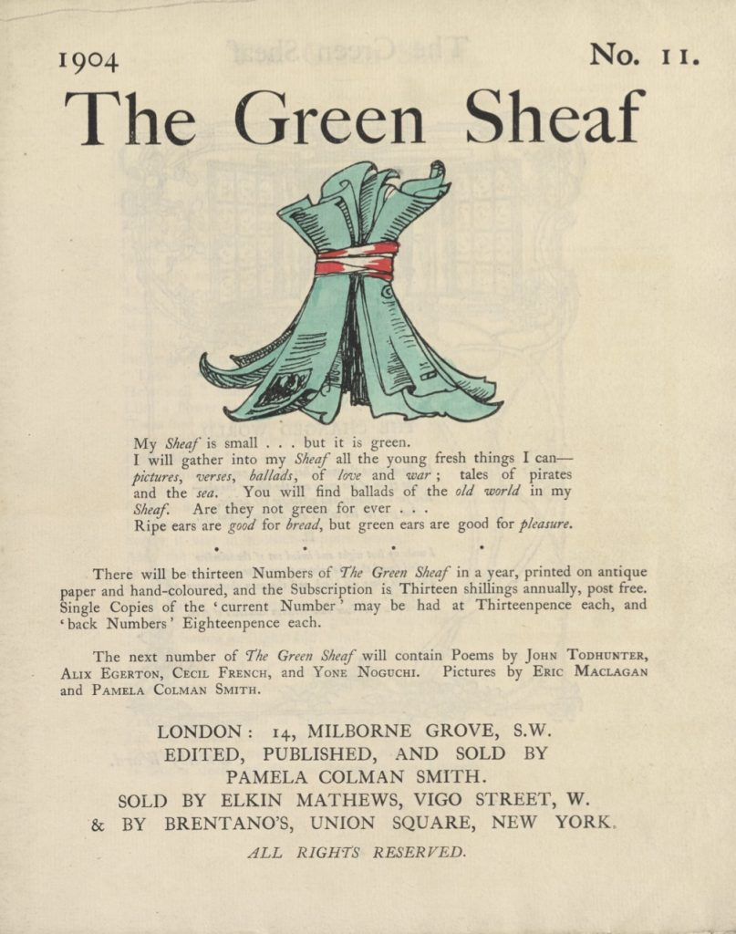 Cover of The Green Sheaf Volume 11