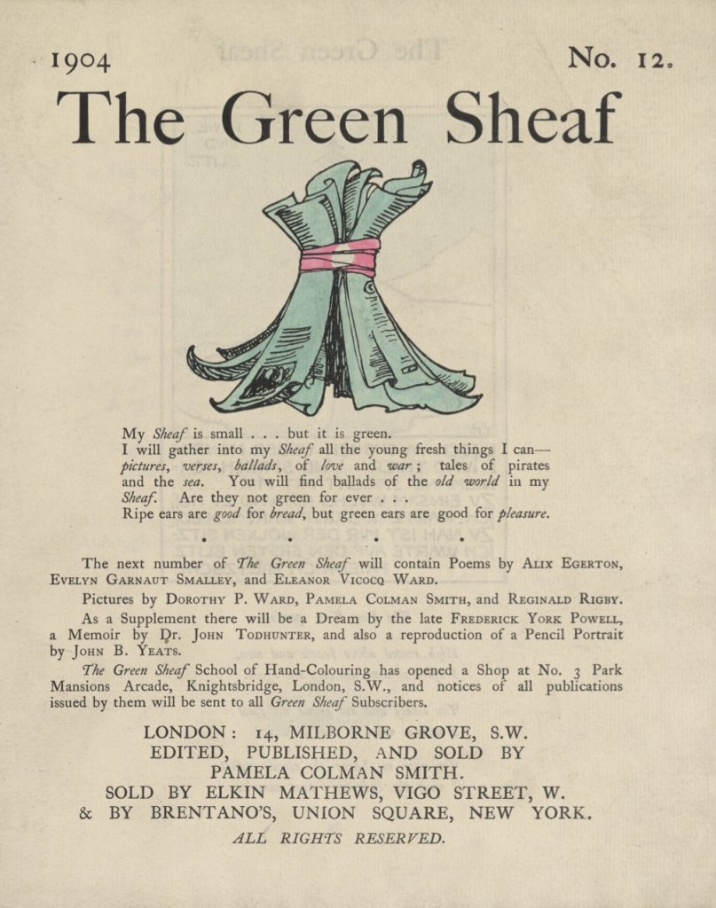 Cover of The Green Sheaf Volume 12