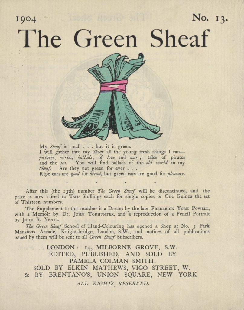 Cover of The Green Sheaf Volume 13